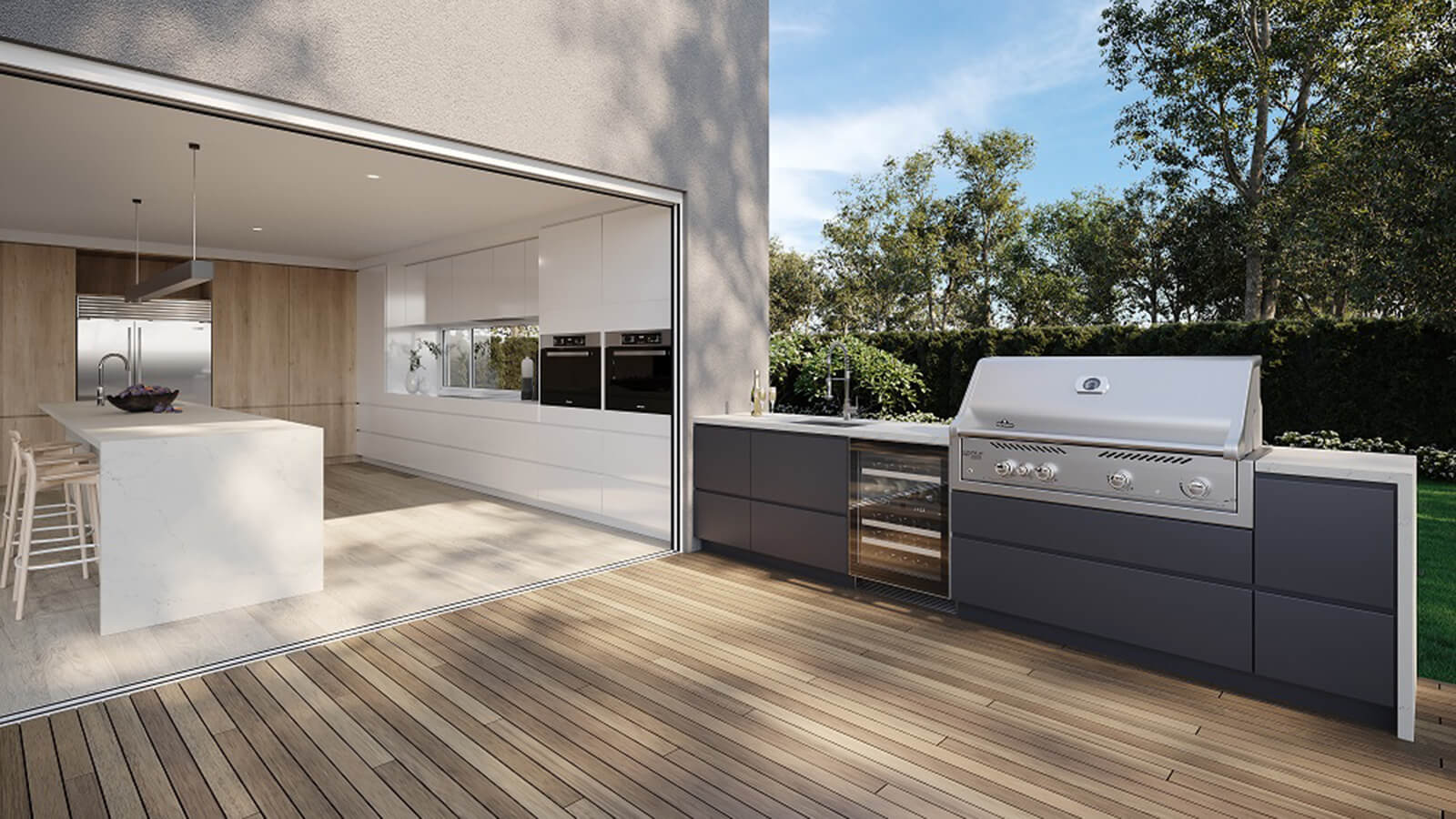 Caesarstone's Luxe Outdoor Surfaces Collection