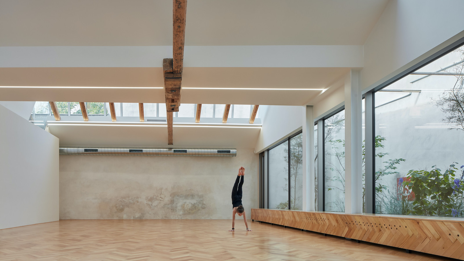A Yoga Studio Inspired by Brno's Industrial Past